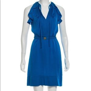 Diane von Furstenberg (DVF) blue silk shift dress